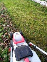 Lístie môžeme pozbierať aj kosačkou. Zmes trávy a lístia hneď kompostujeme