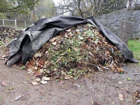 Kompostovaciu hromadu prikryjme aspoň záhradnou geotextíliou. Urýchlime tým jej